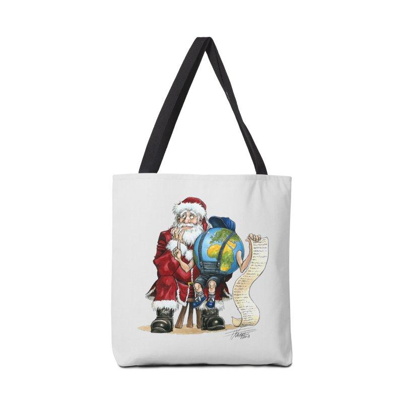 Poor Santa! What a headache! Accessories Bag by Ferran Xalabarder's Artist Shop