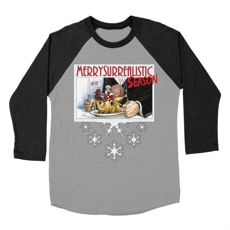 Surrealistic Season Women's Baseball Triblend T-Shirt by Ferran Xalabarder's Artist Shop