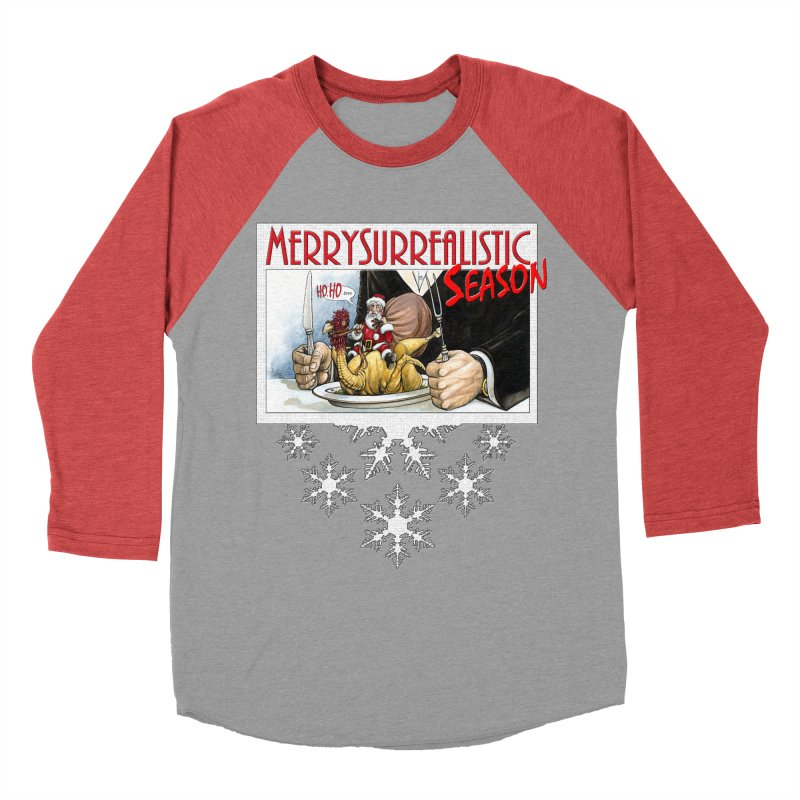 Surrealistic Season Men's Baseball Triblend Longsleeve T-Shirt by Ferran Xalabarder's Artist Shop