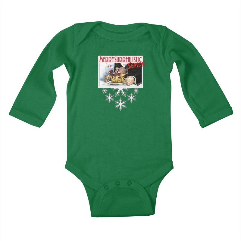 Surrealistic Season Kids Baby Longsleeve Bodysuit by Ferran Xalabarder's Artist Shop