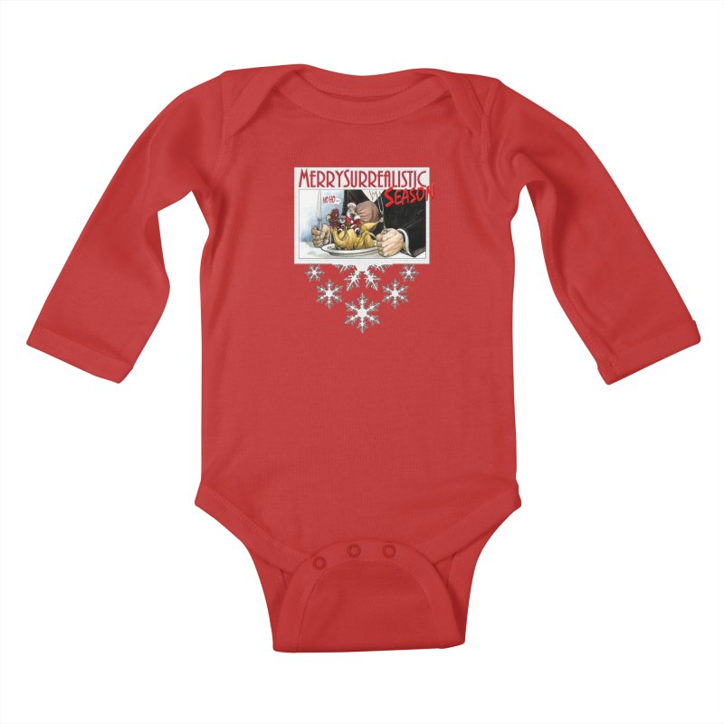 Surrealistic Season Kids Baby Longsleeve Bodysuit by Ferran Xalabarder's Artist Shop