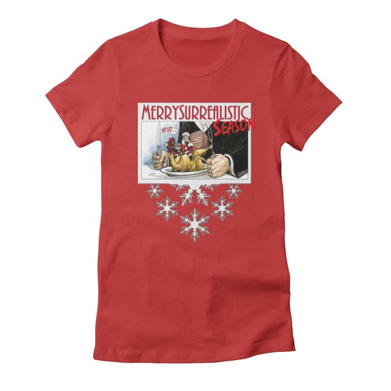 Surrealistic Season Women's T-Shirt by Ferran Xalabarder's Artist Shop