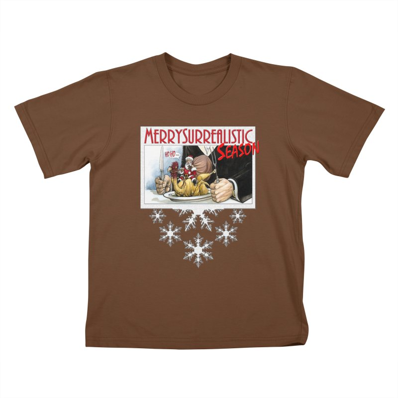 Surrealistic Season Kids T-Shirt by Ferran Xalabarder's Artist Shop