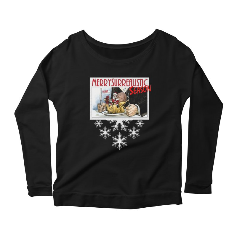 Surrealistic Season Women's Scoop Neck Longsleeve T-Shirt by Ferran Xalabarder's Artist Shop