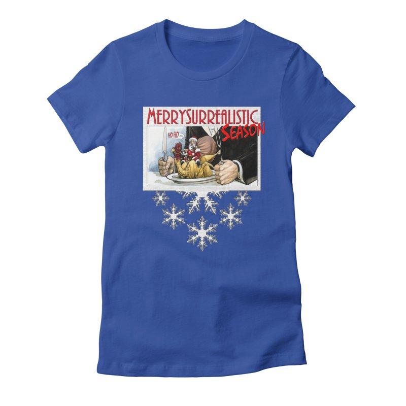 Surrealistic Season Women's Fitted T-Shirt by Ferran Xalabarder's Artist Shop