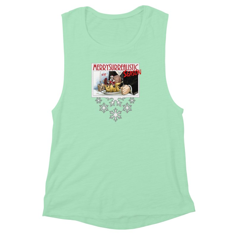Surrealistic Season Women's Muscle Tank by Ferran Xalabarder's Artist Shop