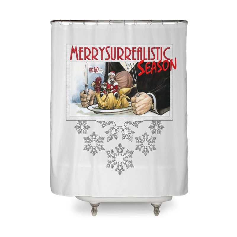 Surrealistic Season Home Shower Curtain by Ferran Xalabarder's Artist Shop