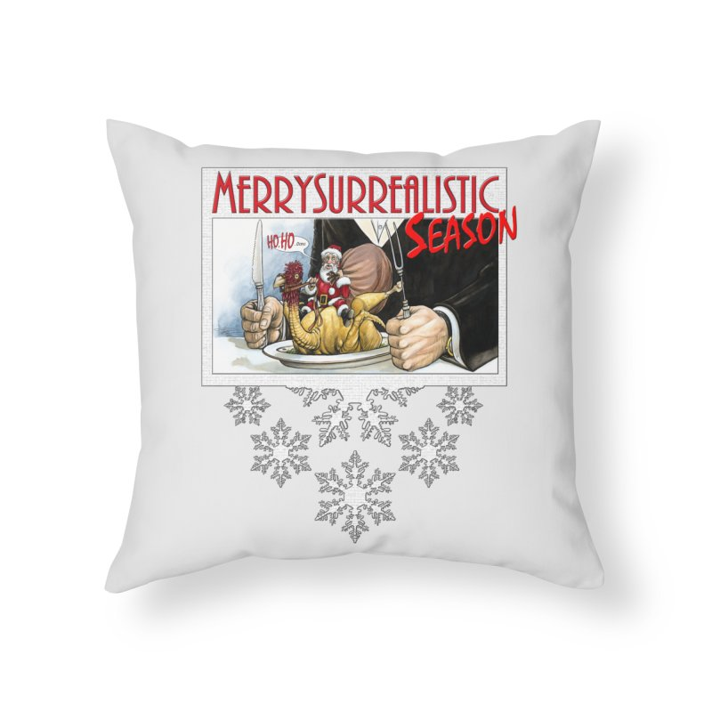 Surrealistic Season Home Throw Pillow by Ferran Xalabarder's Artist Shop