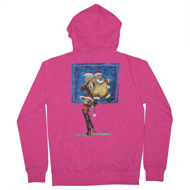 Spicy Xmas. Women's French Terry Zip-Up Hoody by Ferran Xalabarder's Artist Shop