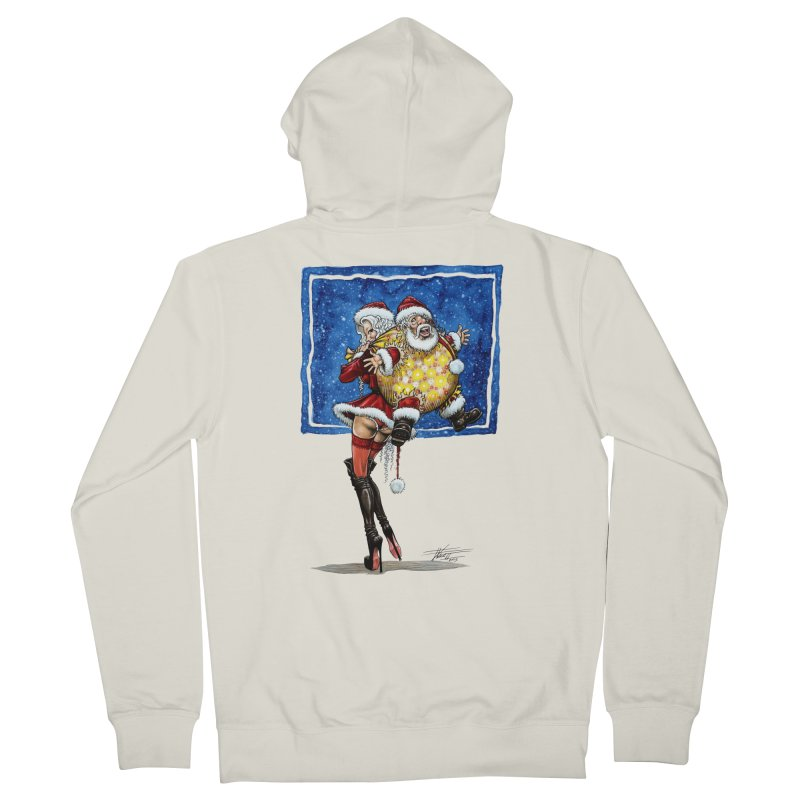 Spicy Xmas. Men's French Terry Zip-Up Hoody by Ferran Xalabarder's Artist Shop