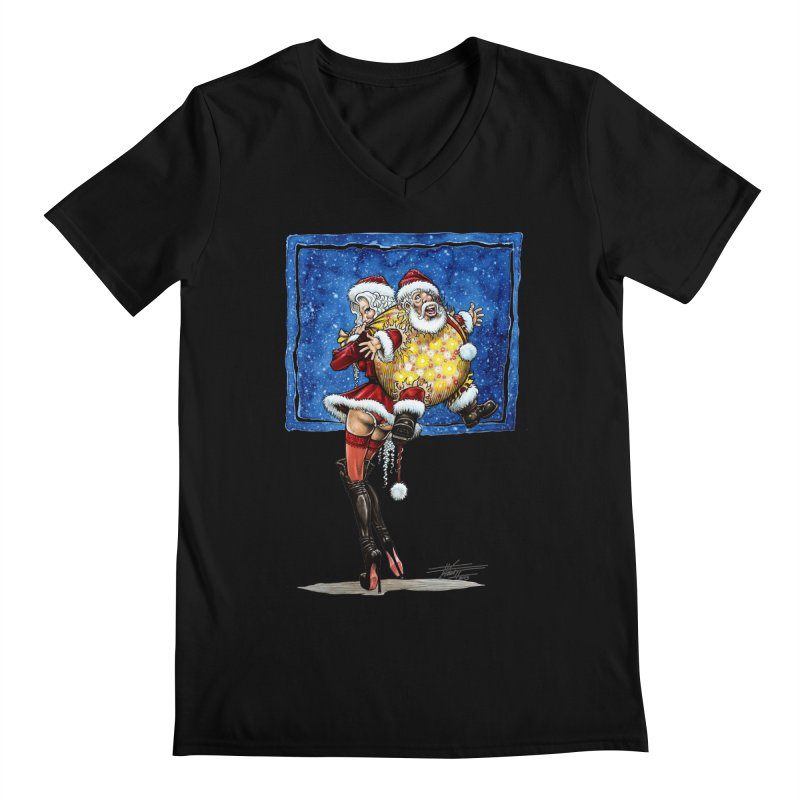 Spicy Xmas. Men's Regular V-Neck by Ferran Xalabarder's Artist Shop