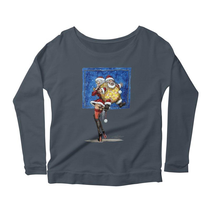 Spicy Xmas. Women's Scoop Neck Longsleeve T-Shirt by Ferran Xalabarder's Artist Shop