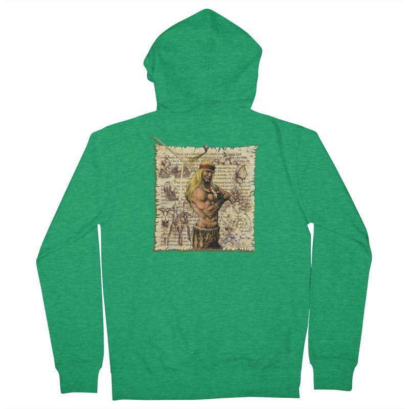 Salvaje Women's Zip-Up Hoody by Ferran Xalabarder's Artist Shop