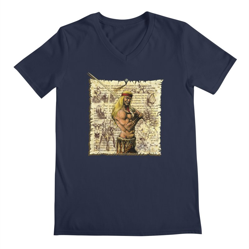 Salvaje Men's V-Neck by Ferran Xalabarder's Artist Shop