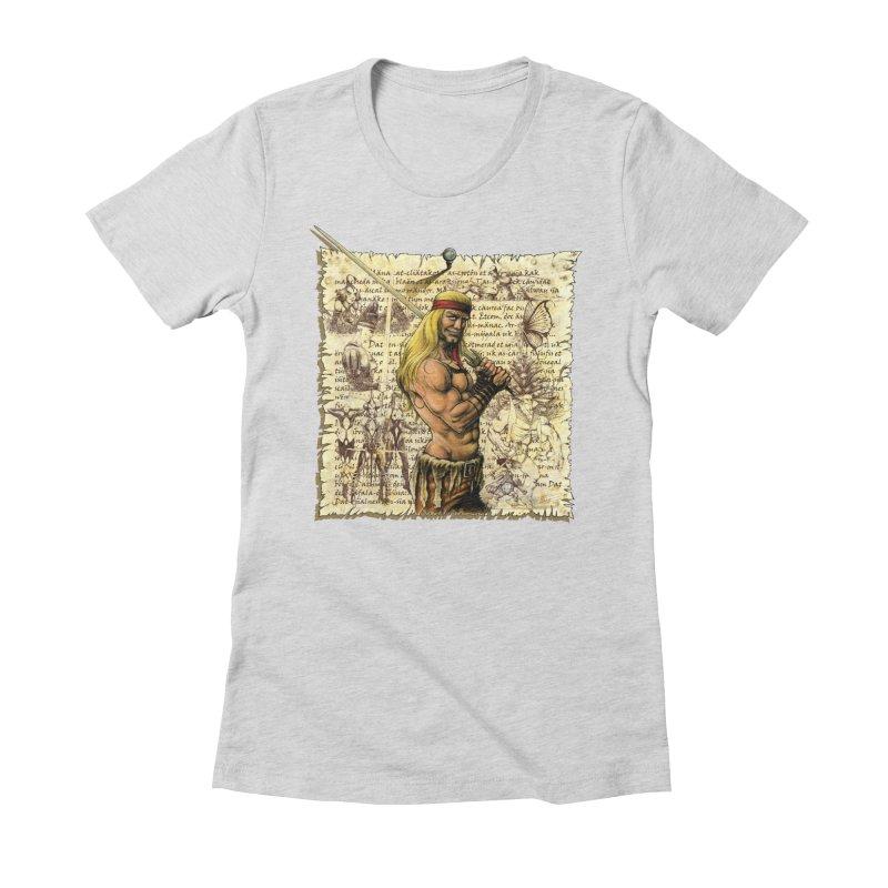 Salvaje Women's Fitted T-Shirt by Ferran Xalabarder's Artist Shop