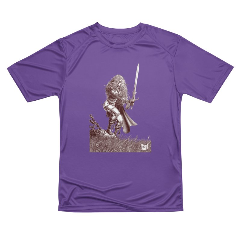 She-Warrior (brown) Men's Performance T-Shirt by Ferran Xalabarder's Artist Shop