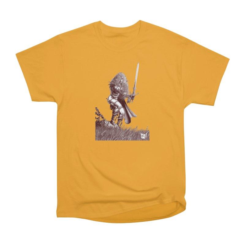 She-Warrior (brown) Men's Heavyweight T-Shirt by Ferran Xalabarder's Artist Shop