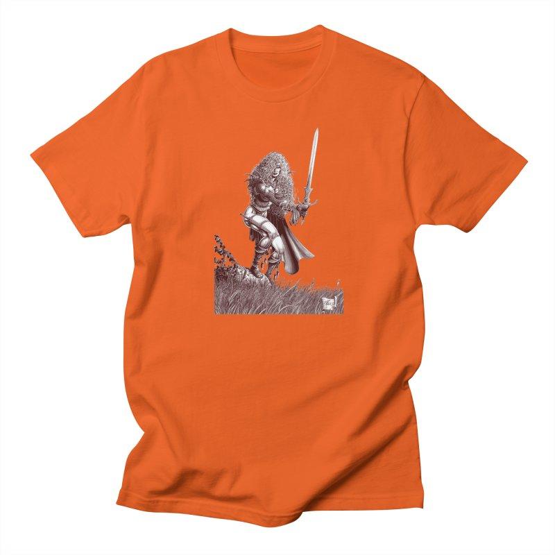 She-Warrior (brown) Men's T-Shirt by Ferran Xalabarder's Artist Shop