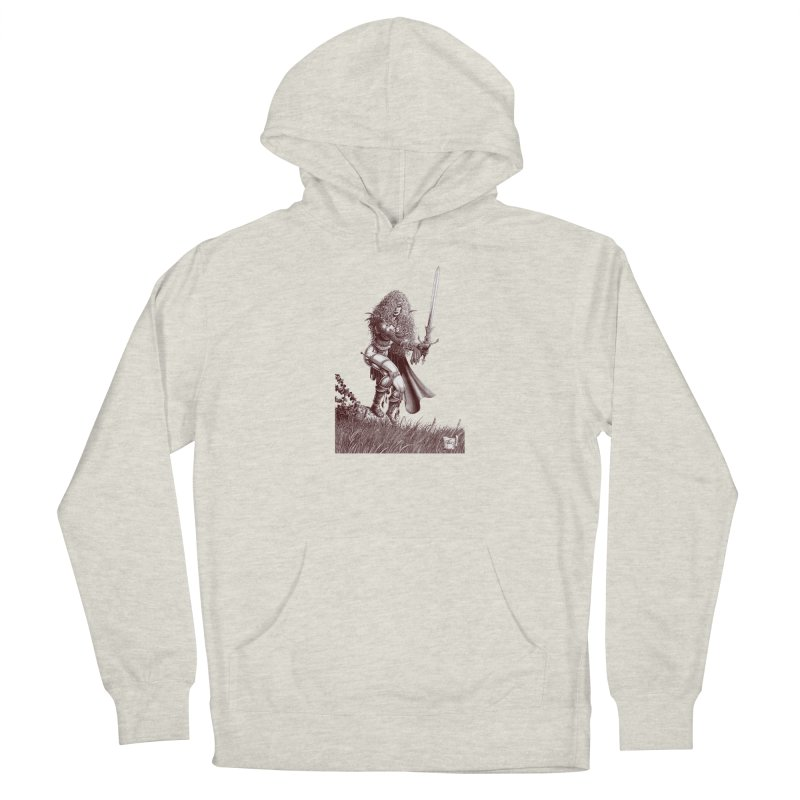 She-Warrior (brown) Men's Pullover Hoody by Ferran Xalabarder's Artist Shop