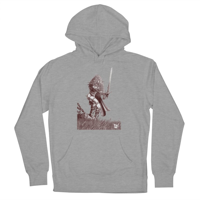 She-Warrior (brown) Women's Pullover Hoody by Ferran Xalabarder's Artist Shop