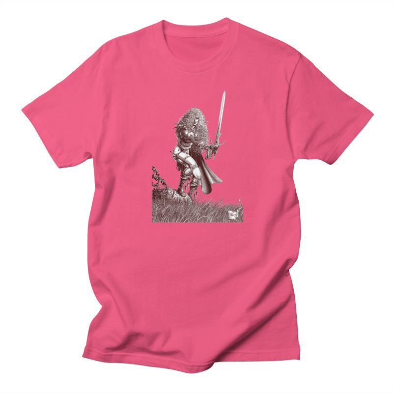 She-Warrior (brown) Men's T-Shirt by Ferran Xalabarder's Artist Shop