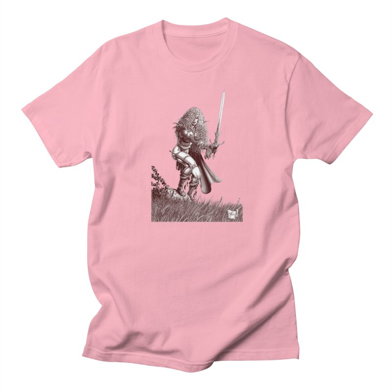 She-Warrior (brown) Women's Regular Unisex T-Shirt by Ferran Xalabarder's Artist Shop