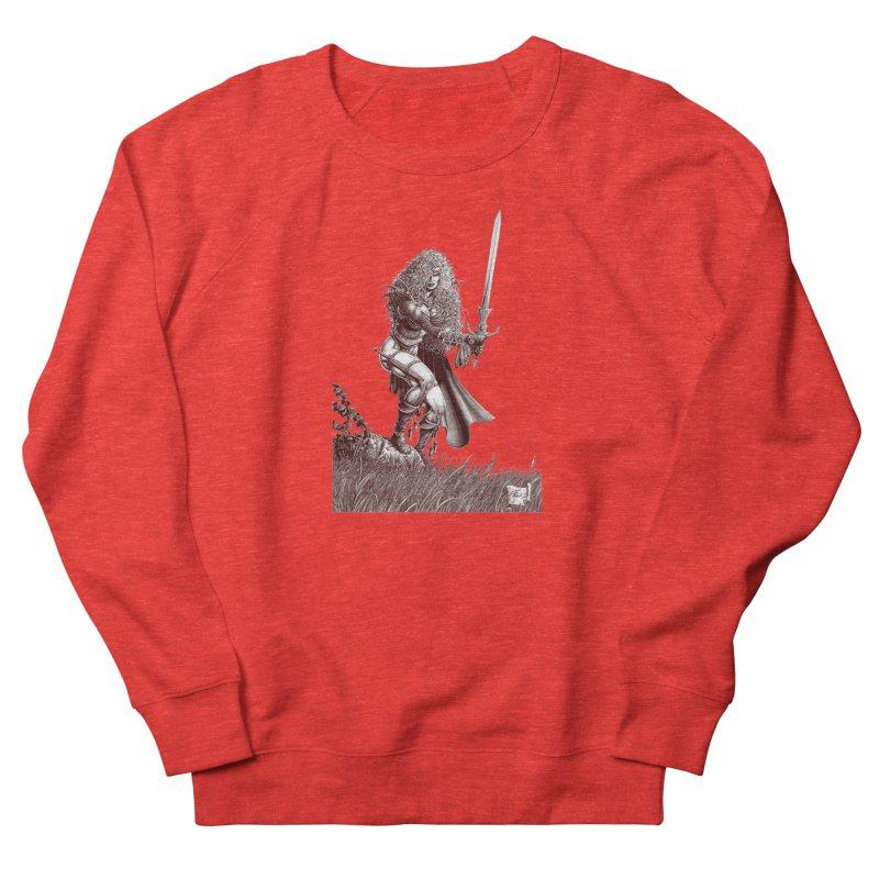 She-Warrior (brown) Women's Sweatshirt by Ferran Xalabarder's Artist Shop