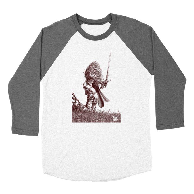She-Warrior (brown) Women's Baseball Triblend T-Shirt by Ferran Xalabarder's Artist Shop