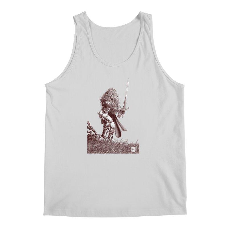 She-Warrior (brown) Men's Regular Tank by Ferran Xalabarder's Artist Shop