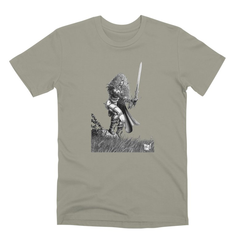 She-Warrior (gray) Men's Premium T-Shirt by Ferran Xalabarder's Artist Shop
