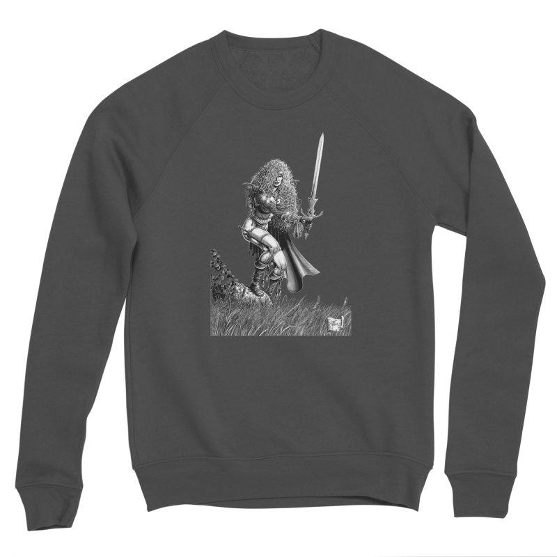 She-Warrior (gray) Men's Sponge Fleece Sweatshirt by Ferran Xalabarder's Artist Shop