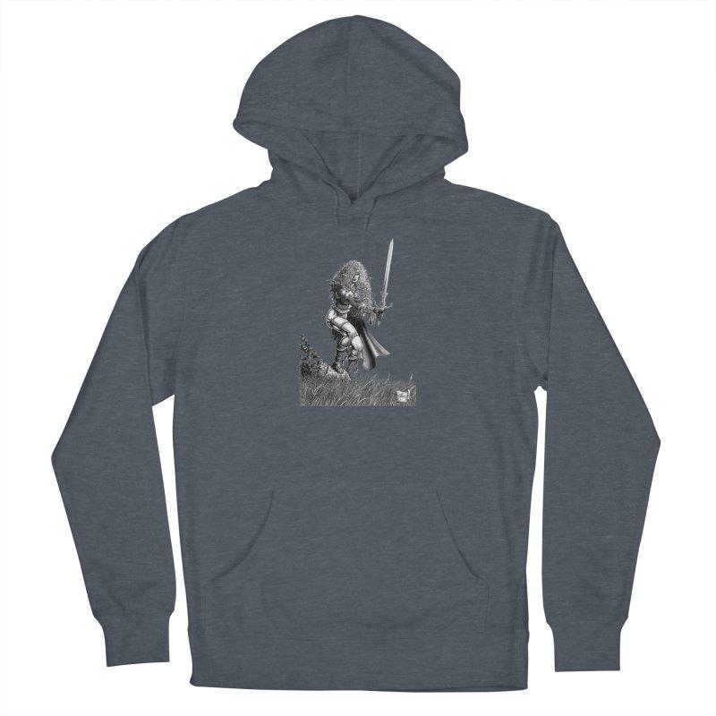 She-Warrior (gray) Men's Pullover Hoody by Ferran Xalabarder's Artist Shop