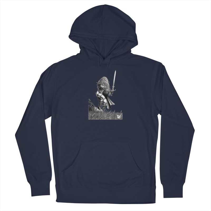 She-Warrior (gray) Men's Pullover Hoody by Ferran Xalabarder's Artist Shop