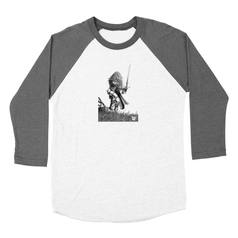 She-Warrior (gray) Women's Baseball Triblend Longsleeve T-Shirt by Ferran Xalabarder's Artist Shop