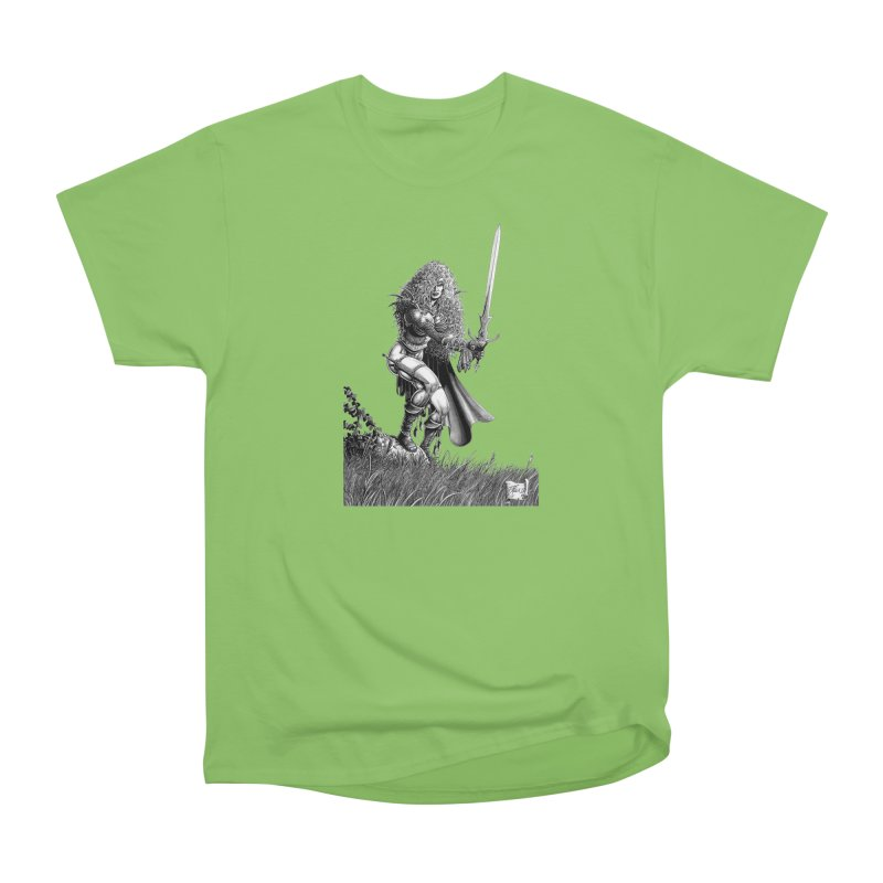 She-Warrior (gray) Men's Heavyweight T-Shirt by Ferran Xalabarder's Artist Shop
