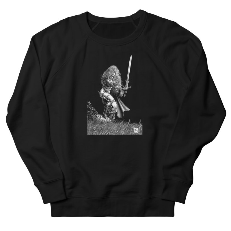 She-Warrior (gray) Women's Sweatshirt by Ferran Xalabarder's Artist Shop