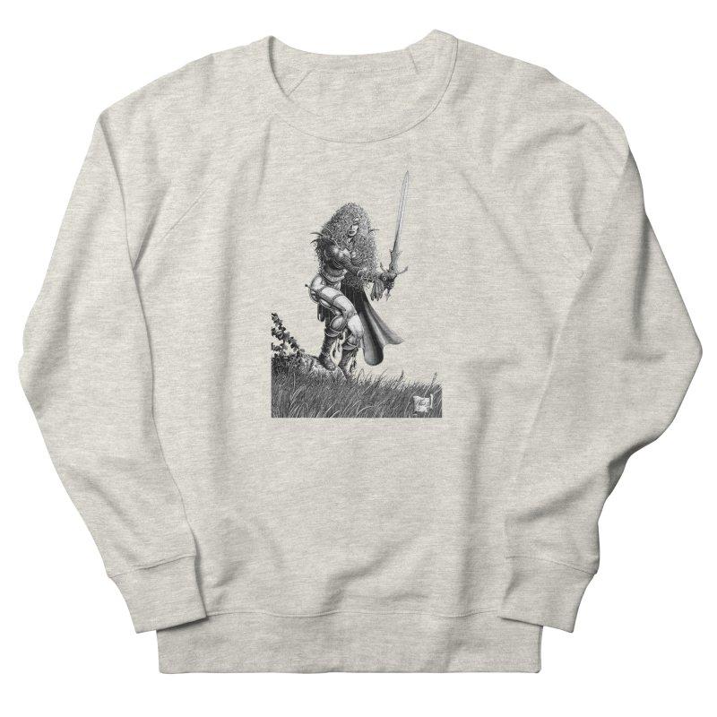 She-Warrior (gray) Women's Sweatshirt by Ferran Xalabarder's Artist Shop