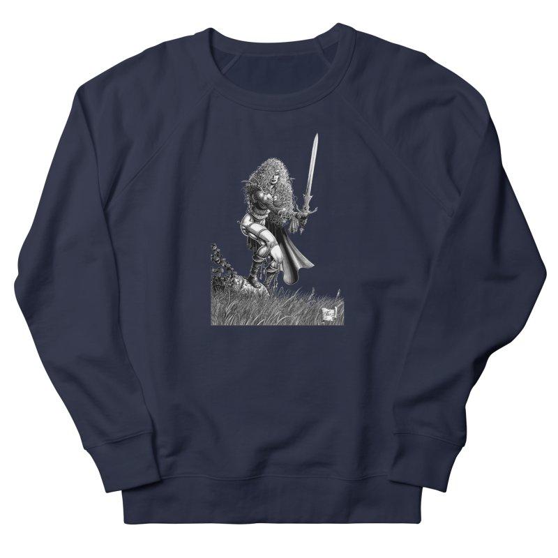 She-Warrior (gray) Men's Sweatshirt by Ferran Xalabarder's Artist Shop