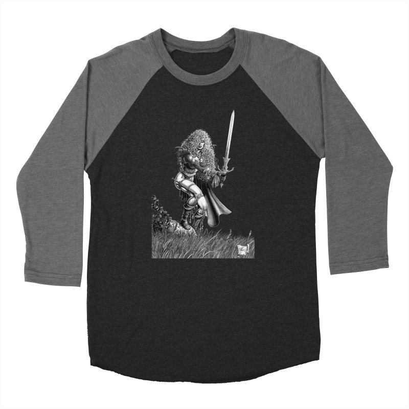 She-Warrior (gray) Men's Longsleeve T-Shirt by Ferran Xalabarder's Artist Shop
