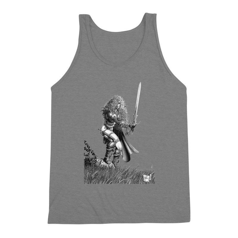 She-Warrior (gray) Men's Tank by Ferran Xalabarder's Artist Shop