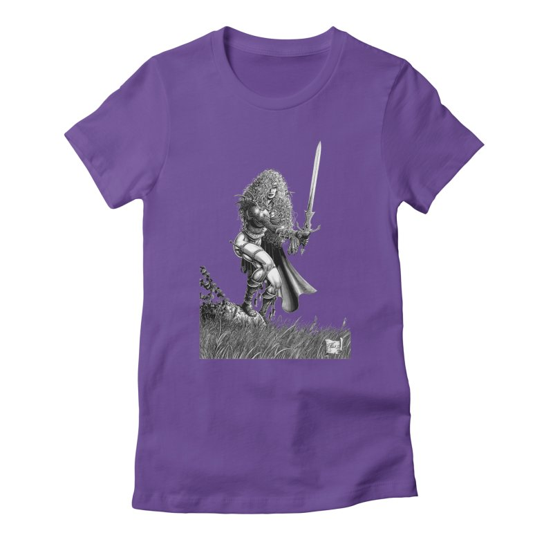 She-Warrior (gray) Women's T-Shirt by Ferran Xalabarder's Artist Shop