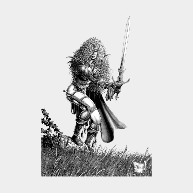 She-Warrior (gray) None  by Ferran Xalabarder's Artist Shop