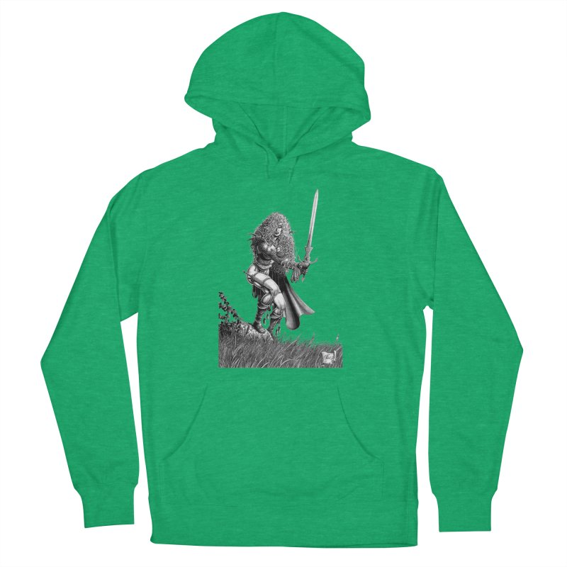 She-Warrior (gray) Women's Pullover Hoody by Ferran Xalabarder's Artist Shop