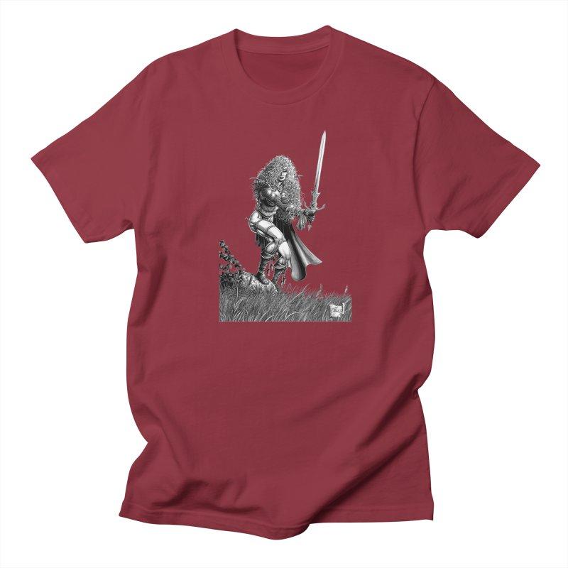 She-Warrior (gray) Women's Regular Unisex T-Shirt by Ferran Xalabarder's Artist Shop