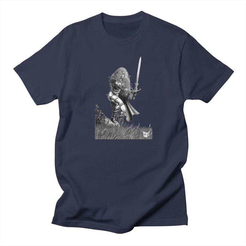 She-Warrior (gray) Men's Regular T-Shirt by Ferran Xalabarder's Artist Shop