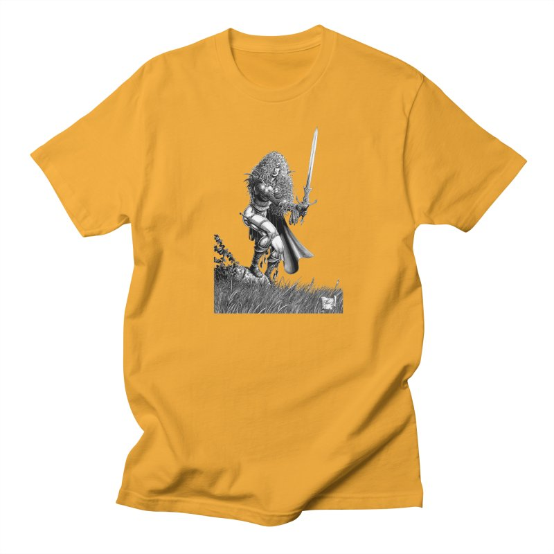 She-Warrior (gray) Men's Regular T-Shirt by Ferran Xalabarder's Artist Shop