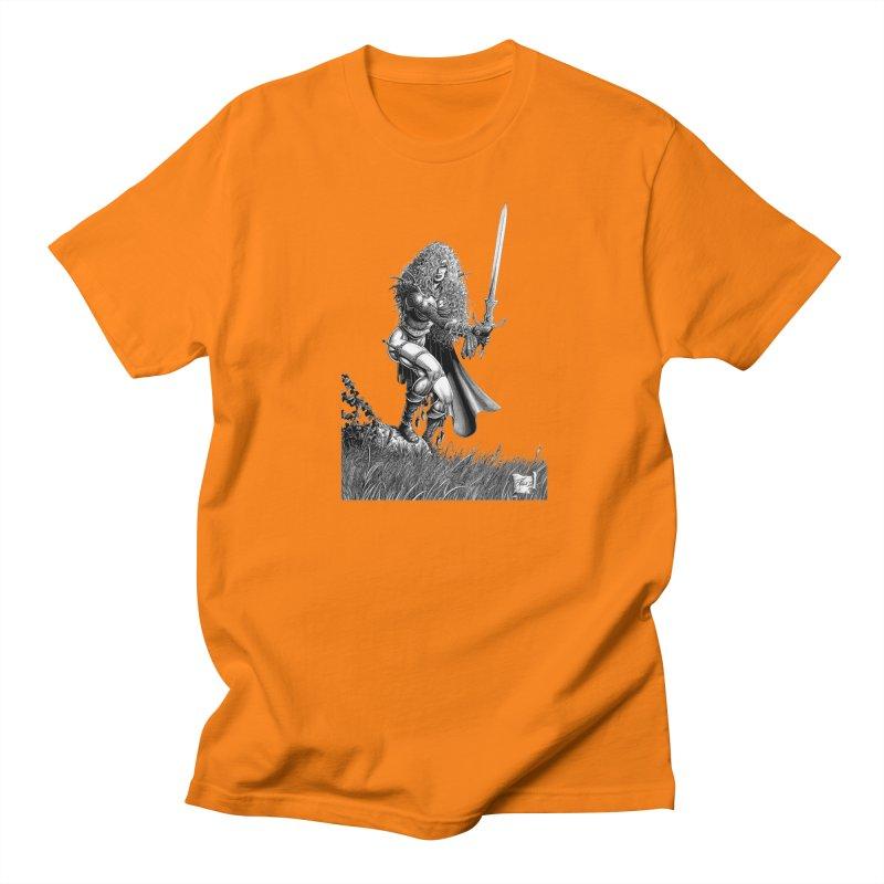 She-Warrior (gray) Women's Unisex T-Shirt by Ferran Xalabarder's Artist Shop