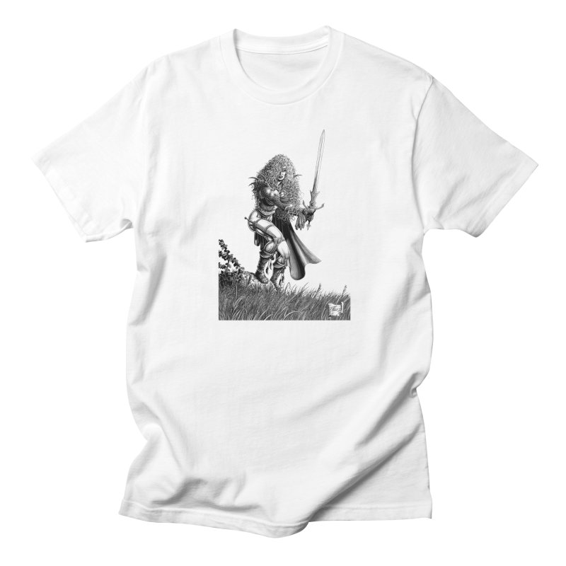 She-Warrior (gray) Women's Unisex T-Shirt by Ferran Xalabarder's Artist Shop