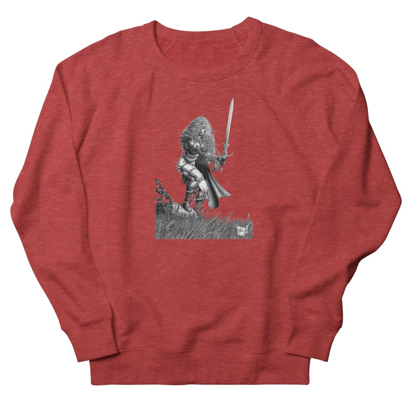 She-Warrior (gray) Women's French Terry Sweatshirt by Ferran Xalabarder's Artist Shop