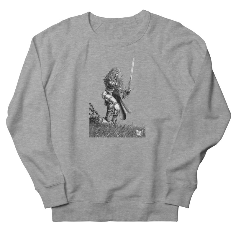 She-Warrior (gray) Men's Sweatshirt by Ferran Xalabarder's Artist Shop